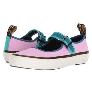 Dr. Marten canvas Mary Jane Florentia pink blue